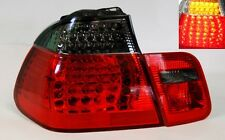 Red Smoke LED Tail Lights Fits BMW E46 3 Series 4Dr 99-01