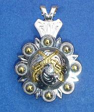 Western Jewelry Bright Silver 1851 Colt Revolvers Concho Pendant Kit