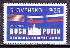 SLOVAKIA 2005 **MNH SC# 473 Summit Meeting of Presidents G.Bush and W.Putin