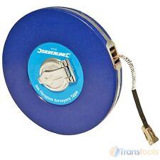 Silverline Surveyors 30m Tape Measure Fibreglass 30 Metre Metric Imperial MT38