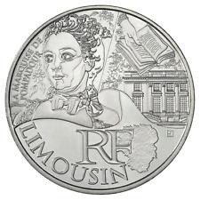 10 euros des régions personnages en argent Limousin  2012