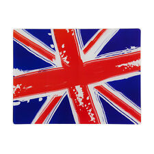 Union Jack Flag Red White & Blue Toughened Worktop Saver Glass Chopping Board