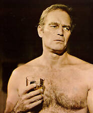 CHARLTON HESTON THE OMEGA MAN HAIRY CHEST PHOTO