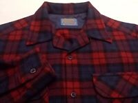 Pendleton Mens Medium L/S Button-Front 100% Wool Multicolor Plaid Board Shirt