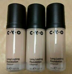CYO Lifeproof Long Lasting Foundation Various Shades Full Size 30ml Brand New