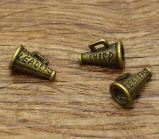 20 Cheerleader Megaphone Charms DIY Antique Bronze Tone 3D Charms 11x15 2163