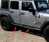 Side Steps Fit 07-17 Jeep Wrangler JK 4-DR OE Style Running Boards Nerf Bars 2pc