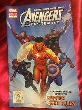 Avengers Assemble # 1 Comic Book Rare Promo 2014 Captain Citrus NYCC Marvel