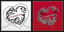 2007 FRANCE N°3996/3997** COEURS de GIVENCHY - SAINT VALENTIN TB MNH
