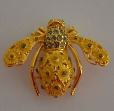 JOAN RIVERS - RETIRED - SUNFLOWER BEE PIN BROOCH - MINT CONDITION