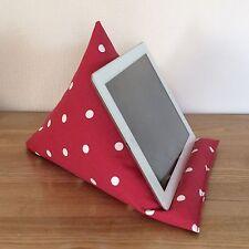 Almohada de tableta iPad Stand, Rojo Y Blanco Spot Smartphone Kindle Cojín lector-E
