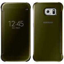 Original Samsung Clear View Cover Schutzhülle Case EF-ZG920 für Galaxy S6 Gold