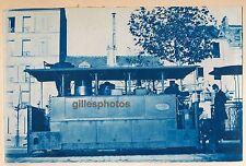 Cyanotype Tramway Vapeur c. 1900 -  Blanc-Misseron - 86