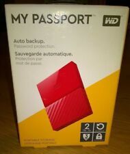 WD My Passport 2 TB Portable Hard Drive and Auto Backup Software PC, Xbox, PS4