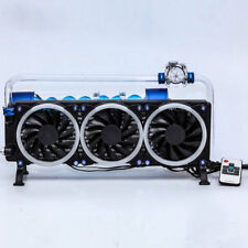 Laptop water cooling radiator RGB remote control color 3 fan 360