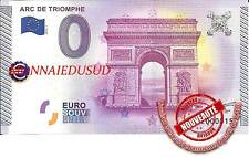 Billet Touristique 0 Euro 2015 - Arc de Triomphe