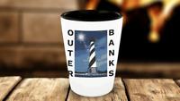 OBX Shot Glass Outer Banks Shot Glass NC Cape Hatteras Lighthouse North Carolina