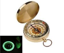 Magnetic compass with degree dial (Brass)  for Bush craft , Survival & Hiking