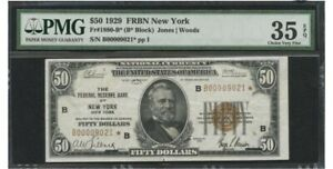 50 dollar bill 1929 (low serial number) with a star note , vintage,