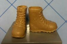TAN Camp Barbie Doll Cloth FASHION EXTRAS Shoe-Faux Lace Military Hiking BOOTS