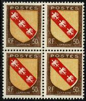 FRANCE 1946 Bloc de 4   YT n° 757 Neuf ★★ luxe / MNH