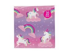 20 Unicorn Rainbow Paper Napkins Girls Party Toddler 3 PLY Christmas Stocking