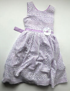 Jona Michelle Girls Size 10 Lace And Lilac Tulle Puff Skirt Dress Weddings
