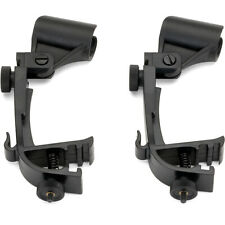 2x –Drum Kit Microphone Clip Holders– Tom/Snare Rim Clamp Stand Shockproof Mount