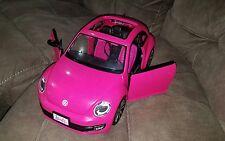 Barbie Volkswagen The Beetle Hot Pink VW Vehicle Bug & Toy Mattel BJP37 EUC