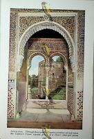Captives Tower, Alhambra, Andalusia, Spain, Book Illustration (Print), c1920