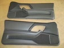 97-99 Camaro Z28 RS SS Door Panels Med Gray Leather LH RH Pair 0827-9