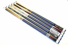 "SALE - SET OF 5 POOL CUES New 58"" Canadian Maple Billiard Pool Cue Stick #5 FREE"