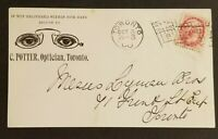 Toronto Canada C Potter Optician Illustrated Spectacles Flag Cancel Front Cover