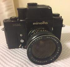 Minolta XK - 35MM SLR Prism Camera w/ 28mm Lens (See Description)....FREE S&H!!