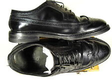 VTG. STAFFORD LONG WINGTIP BROUGE MEN DRESS SHOE SIZE 11 EEE BLACK           OOO