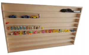 Hot Wheels Diecast Car Large Display Plain Wooden Unit Shelf Toy Storage 16XL