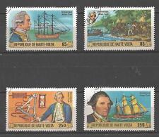 Bateaux Haute Volta (88) série complète de 4 timbres oblitérés