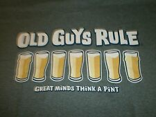 "OLD GUYS RULE "" GREAT MINDS THINK A PINT "" DRAFT BEER  S/S T-SHIRT SIZE 2X"