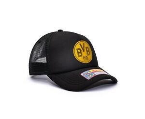 Borussia Dortmund Trucker Snapback Hat Shield Officially Licensed Fan Ink