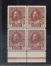 Canada #114b Extra Fine Never Hinged Type D Lathework Block