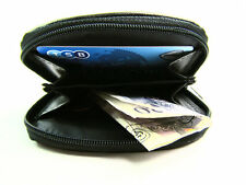 Mens Ladies Quality Small Real Leather Coin Purse Pouch Wallet Zip Around