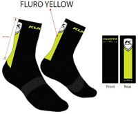 Cycling Socks Black Fluro Kuota MEDIUM 39-43 Road socks MTB cycling