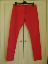 Chinos Trousers Waist 34 L34 RRP £85 Red GAS Runic Stretch Cotton