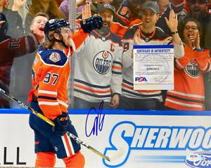 Connor McDavid SIGNED Edmonton Oilers PSA 11x14 PHOTOGRAPH *
