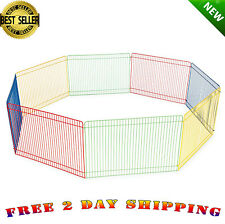 Small Pet Playpen Indoor Animal Cage Outdoor House Small Puppy Play Yard Crate