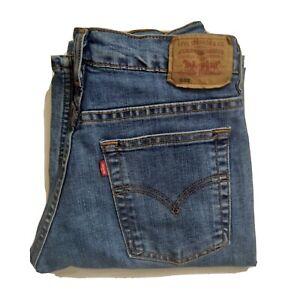 Levi Strauss levis 504s Denim Blue Jeans faded Y2K straight leg 28 w 33 L