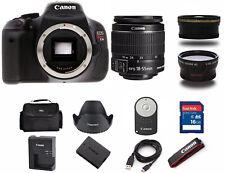 Canon Rebel T3i / 600D 18.0 MP SLR Camera With 18-55mm (3 LENS BUNDLE)