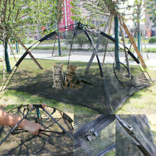 Portable Pet Cat Happy Habitat Playpen Puppy Indoor Outdoor Mesh Play Tent Cage