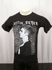 JUSTIN BIEBER Purpose World Tour 2016 Concert Black Tee T-Shirt -Size Small