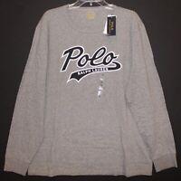 Polo Ralph Lauren Mens Gray POLO L/S Crewneck Cotton T-Shirt NWT Size XL